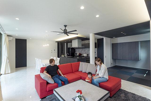 機能的で美しい、家族の理想を追求した家。