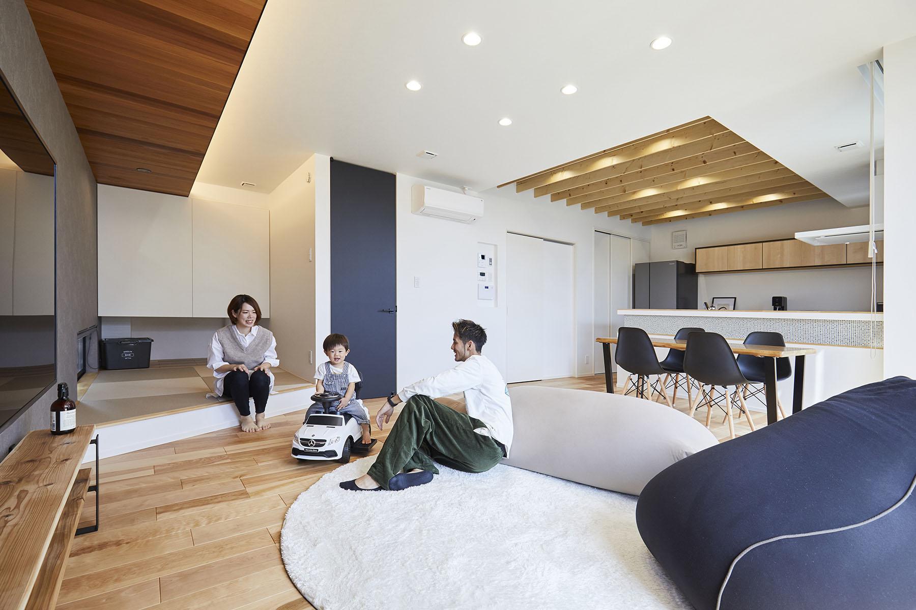 木を主役にした、シンプルなデザインハウス