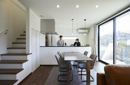 防音室があるシンプルで上品なデザインハウス