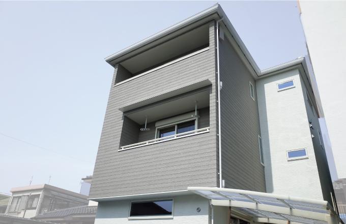 <注文住宅実例>H様邸 都心に建つ、3階建ての家
