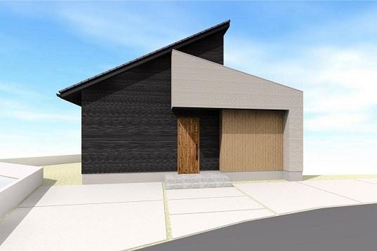 M様邸 勾配天井のある平屋デザインハウス