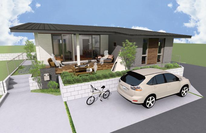 〈平屋 新モデルハウス〉内と外とつながる「FLAT」な暮らし